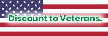 American flag representing veteran discount