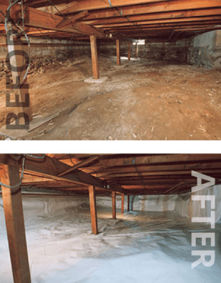 before after crawl space