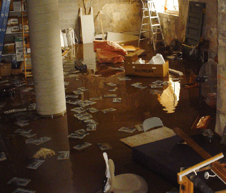 The Effect of Flooding Water on Basements