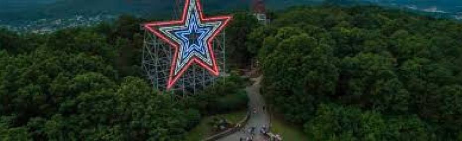 Roanoke Valley Star on Mill Mountain